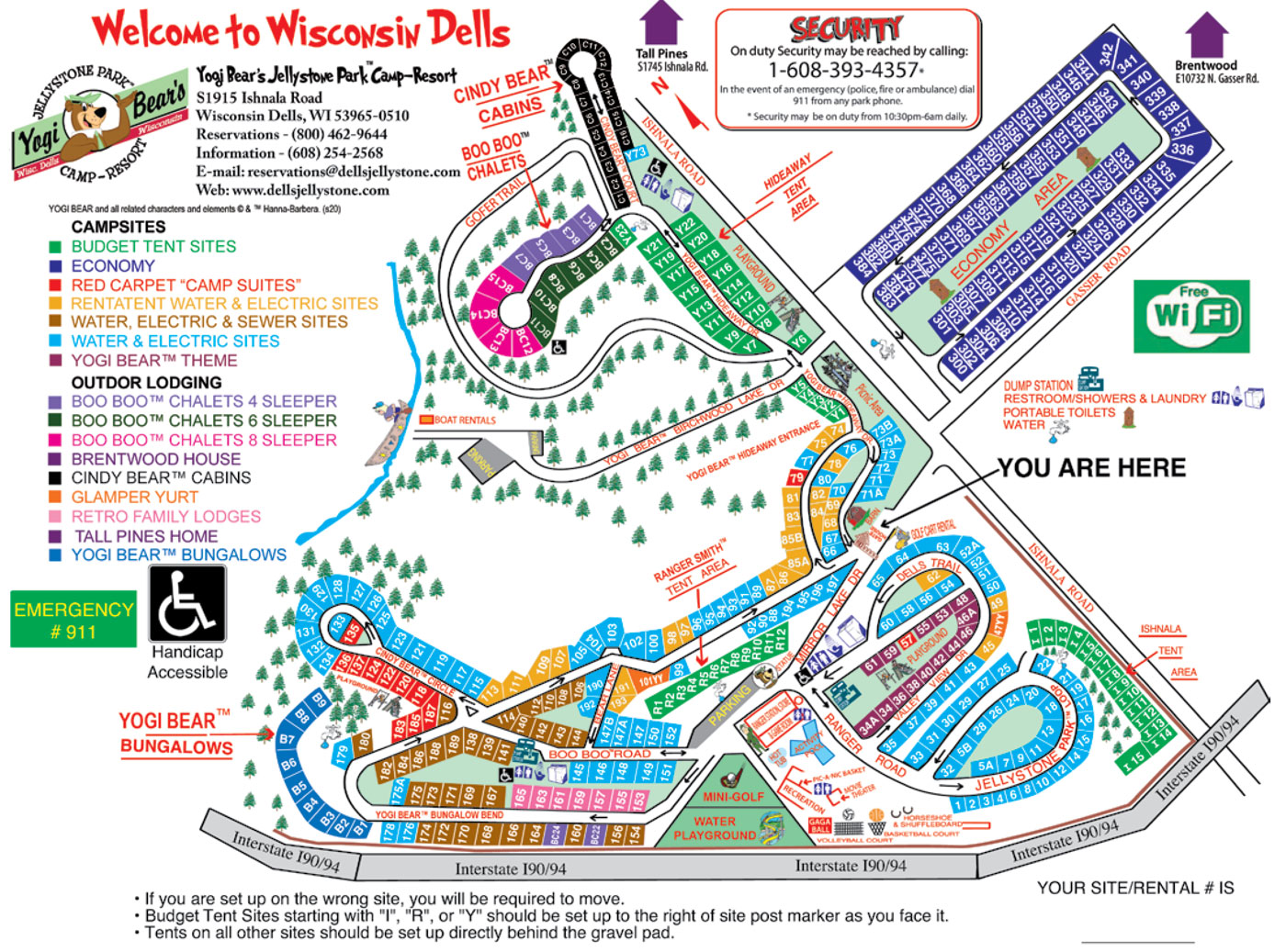 Click here to see larger Resort Map