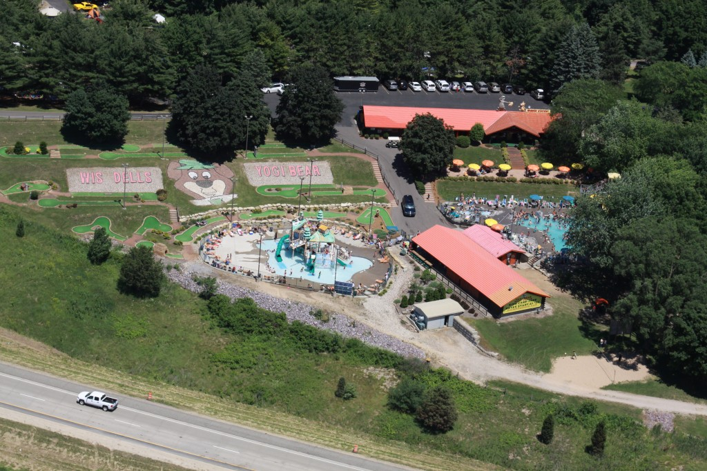 Aerial view of Dells Jellystone